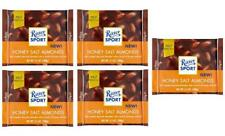 Ritter Sport HONEY SALTED ALMOND chocolate square bars 100g (Pack of 5)