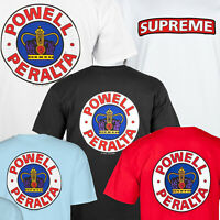 POWELL PERALTA Supreme Skateboard T -  Tee Shirt / BONES BRIGADE CLASSIC