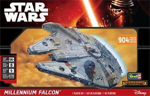2015 revell Force Awakens Star Wars MILLENNIUM FALCON large 1/72 Skill level 5