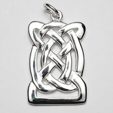 entwined celtic pendant P137 Sterling Silver Irish Handcrafted