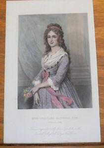 1867 Antique COLOR Print///MRS. CHARLES CARROLL, JR. (Harriet Chew)