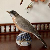 Vintage Royal Copenhagen Porcelain Figurine - Redwing Bird 1235