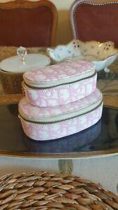 Authentisch Christian Dior Zwei Kosmetiktasche KleinTasche Pink Weiß