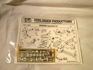 1/35 Verlinden Prod Sherman Super Detail Set Brass Photo Etched Parts # VP3 263