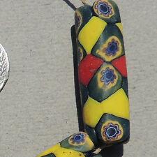 4 long old antique venetian tubular millefiori african trade beads #3127