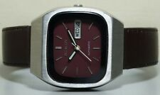 Vintage Allwyn Automatic Day Date Steel Mens Wrist Watch R736 Old Used Antique