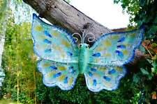 Wand Hänger Schmetterling 2 Stück Matell Deko Garten Falter Rostoptik Wandbild