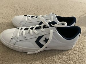 NWOB Converse Star Player OX Leather Sneaker, Size: Men's 12 White/Navy