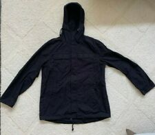 H&M Divided Black Hooded Rain Parka Jacket L bought at Chris Brown Yard Sale