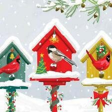 "Paperproducts Design ""Holiday Birdhouses"" Paper Cocktail/Beverage Napkins"