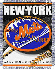 "New York Mets 48""x 60"" Triple Woven Jacquard Knit Throw Blanket W/ Fringe"