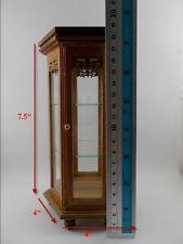 Teak Wood Cabinet Small Vintage Carved Handmade Thai Cupboard Furniture hexagon