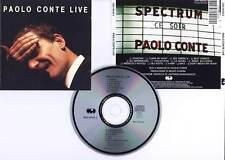 """PAOLO CONTE """"Live"""" (CD) 1989"""