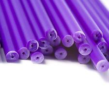 50 X Stecche 89mm X 4mm Viola Plastica Colorata, Dolci, Chupa Chupa