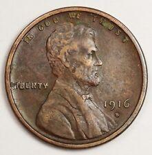 1916-s Lincoln Head Cent. Error Blob on Mint Metal on Reverse X.F.  120068