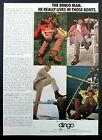 1972 ACME BOOT CO. - DINGO BOOTS - Joe Namath Magazine Ad