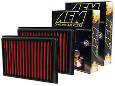 [SET OF 2] AEM 28-20409 STOCK REPLACEMENT WASHABLE REUSABLE PANEL AIR FILTER