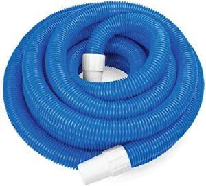 """24' x 1.25"""" Blue Blow Molded PE In-Ground Pool Vacuum Hose 7 Meters SPAG1257H"""
