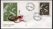 """1973 - Michelangelo Merisi """"Il Caravaggio""""  - n.1225  -  Busta  FDC"""