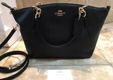 NEW COACH Small KELSEY CROSS BODY IN PEBBLE LEATHER BLACK/ Gold RRP $650
