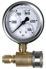 "Pressure Parts PK-QCG-5000 5000 PSI 2-1/2"" Quick Connect Cold Water Test Gauge A"