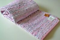 Pink Pastel Chindi Rag Rug Handmade Recycled Cotton 120x180cm 4x6ft Hemmed
