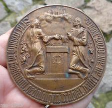 original  Medaille um 1900 goldene Hochzeit evangelisch