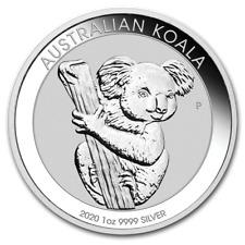 AUSTRALIE 1 Dollar Argent 1 Once Koala 2020