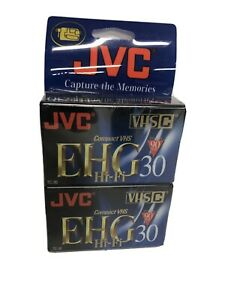 JVC EHG Hi-Fi Compact VHS 90 Minute Tapes - 2 pack - TC-30 VHSC