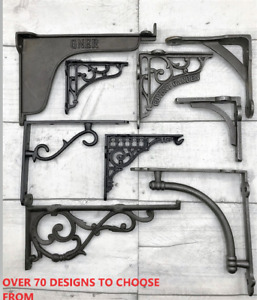 CAST IRON SHELF BRACKETS /70+ STYLES TO CHOOSE FROM, VINTAGE, ANTIQUE FROM £4.95