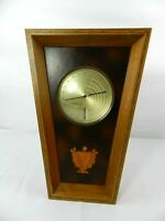 Vintage Advance Dial Co, Chicago Ill THI/m THERMOMETER HYGROMETER Wood Leather