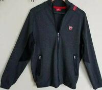 Womens Ducati Jacket Full Zip Large Sweatshirt Fleece Dark Gray Pockets Greece