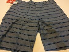 NEW MENS SIZE 34 WAIST DOCKERS BLUE SHORTS STRIPED NWT