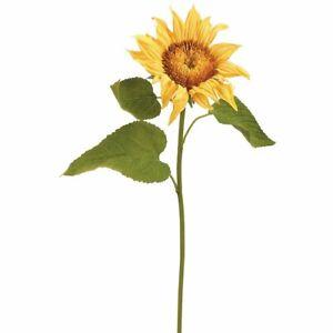 "2 Artificial Sunflower Stem Yellow/Green 24"" - Threshold"