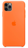 2020 iPhone 11 Pro Max Apple Echt Original Silikon Hülle Case - Vitamin C