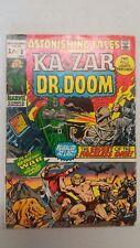 Astonishing Tales #3 - Ka-zar & Dr Doom - 1970 Marvel Comics - UK Price Edition