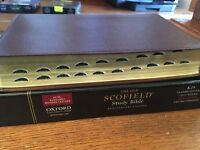 Leather KJV Old Scofield Study Bible 1917 notes Red letter Thumb-Indexed