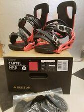 New listing NEW 2020 Burton Cartel RED re:flex snowboard bindings MEDIUM genesis malavita