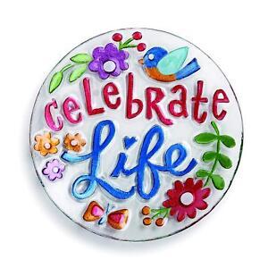 DEMDACO Celebrate Life Round Plate, Multicolor