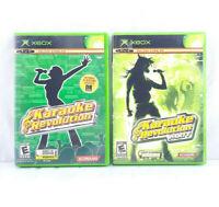 Karaoke Revolution AND Party (Original Microsoft Xbox, 2004) Singing Game Lot
