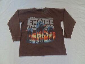 Star Wars The Empire Strikes Back L/S T-shirt Sz Boys XS Lucas At-At Walker