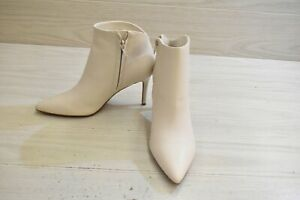 Nine West Feina Ankle Boots, Women's Size 6.5 M, Ivory MSRP $129