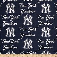 New York Yankees Fabric MLB  Baseball Cotton Navy Blue White BTFQ Lamphade ?
