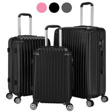 3Pcs ABS Travel Luggage Sets Business Suitcase Trolley With TSA Lock 20/24/28
