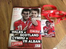 More details for wales v scotland world cup qualifyer @ cardiff city 12th october 2012 + landyard