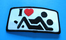 I LOVE MAKING LOVE ADULT FUNNY BIKER IRON ON PATCH