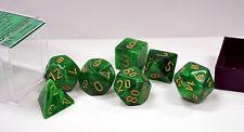 Dungeons & Dragons Fantasy 16mm 7 Piece Dice Set: Vortex Green 27435