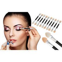 10pc Double Ended Pro Eye Shadow Brush Set Sponge Stick Makeup Tool Pretty UK