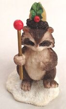 "CHARMING TAILS Brown White Gray Tan 3.5"" Racoon Figurine by Silvestri - Griff"