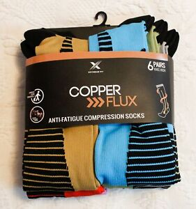Extreme Fit Unisex Copper Targeted Knee-High Compression Socks BF5 Small/Medium